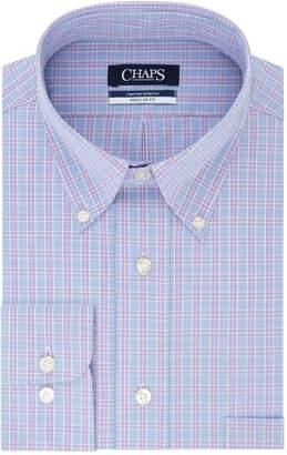 Chaps Mens Regular Fit Comfort Stretch Button-Down Collar Dress Shirt