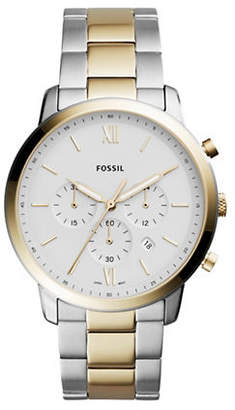 Fossil Neutra Chronograph Two-Tone Stainless Steel Link Bracelet Watch