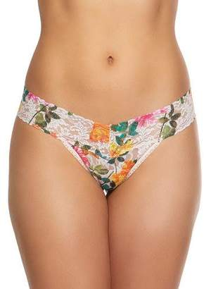 Hanky Panky Melissa Floral-Print Low-Rise Lace Thong