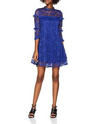 Little Mistress Women's Cobalt Lace Shift Dress, Blue, 8