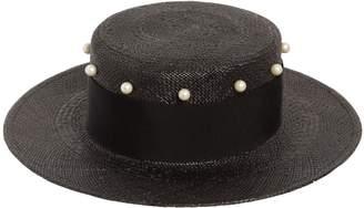 Federica Moretti Small Brim Hat W/ Imitation Pearls