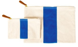 Cathy'S Concepts Personalized Canvas Clutch - Blue $39 thestylecure.com