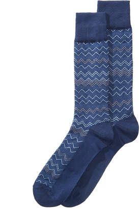 Perry Ellis Men's Chevron-Print Dress Sock