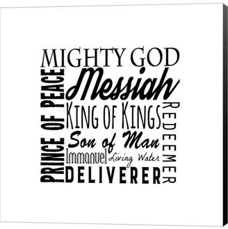 Names of Jesus Square Black Text by Inspire Me Canvas Art