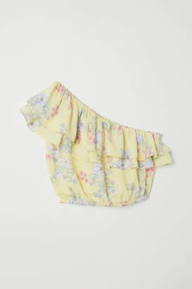 H&M Short One-shoulder Blouse - Yellow