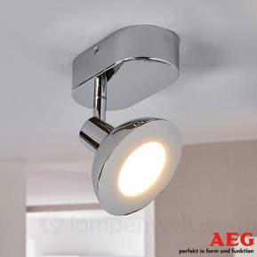 Chromfarbener LED-Strahler Titania, 1fl.
