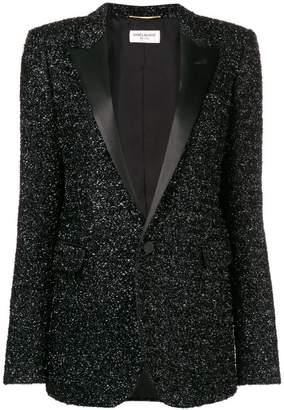 Saint Laurent tuxedo style sequin blazer
