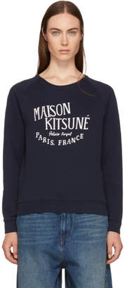 MAISON KITSUNÉ Navy Palais Royal Logo Sweatshirt