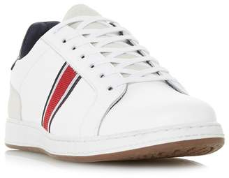 Dune White 'Tagger' Stripe Detail Trainers