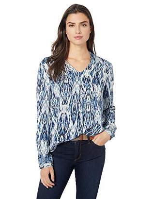 Tribal Women's L/S Double Layer Front Blouse