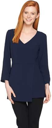 Linea By Louis Dell'olio by Louis Dell'Olio Gauze Crepe Tunic with Asymmetric Hem