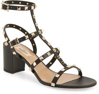 Valentino Rockstud Block Heel Sandal
