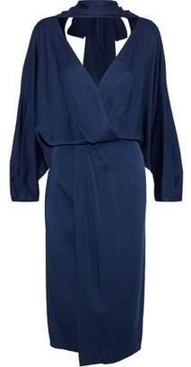 Diane von Furstenberg Wrap-Effect Satin-Crepe Dress