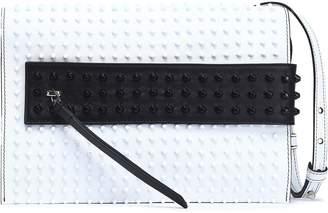 Elena Ghisellini Studded Two-tone Leather Shoulder Bag