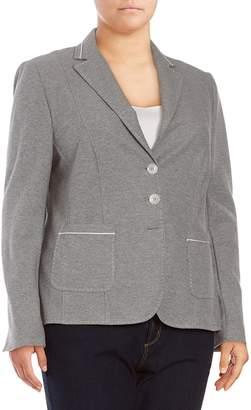 Basler Women's Edgy Blazer - Grey-off White, Size 50 (20)