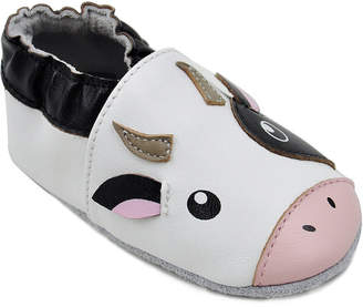 Momo Baby Unisex Soft Sole Leather Baby Shoes - Cow