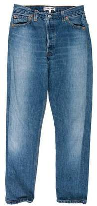 RE/DONE Logo-Embellished Mid-Rise Jeans