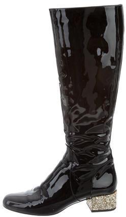 Saint LaurentSaint Laurent Knee-High Patent Leather Boots
