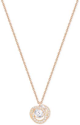 Swarovski Rose Gold-Tone Crystal Pendant Necklace