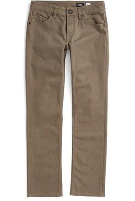 Boy's Volcom 'Vorta' Slim Straight Leg Cotton Twill Pants $55 thestylecure.com