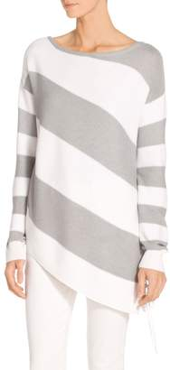 St. John Links Texture Stripe Knit Sweater