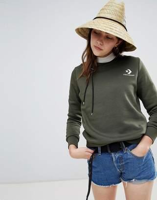 Converse Star Chevron Embroidered Crew Sweatshirt