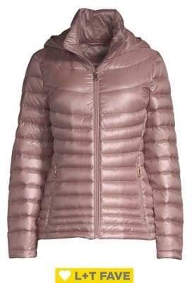 Calvin Klein Petite Short Packable Puffer Coat
