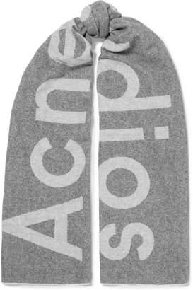 Acne Studios Toronto Intarsia Wool-blend Scarf - Gray