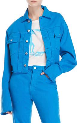 Fiorucci Blue Berty Cropped Denim Jacket