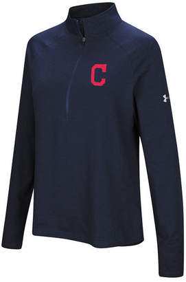 Under Armour Women's Cleveland Indians Passion Half-Zip Pullover