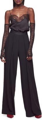 Kiki de Montparnasse High-Rise Wide-Leg Silk Trousers