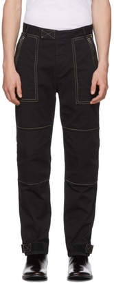 Givenchy Black Zippered Cargo Trousers