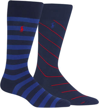 Polo Ralph Lauren Men 2-Pk. Striped Socks