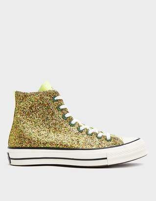 Converse JWA Glitter Chuck 70 Hi Sneaker in Gold