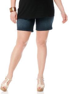 Motherhood Plus Size Secret Fit Belly® Ringspun Denim Maternity Shorts