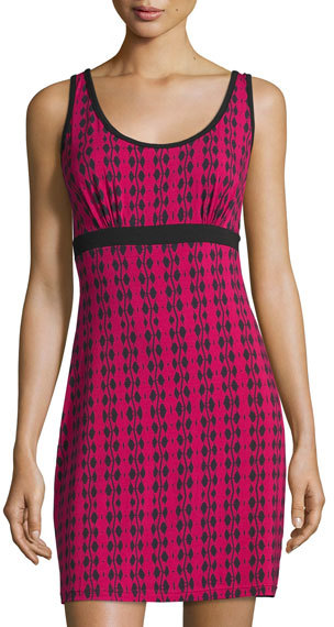 CosabellaCosabella Astaire Jersey Chemise, Deep Ruby/Black