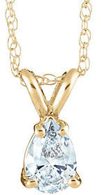 Affinity Diamond Jewelry Pear-Shaped Diamond Pendant, 14K Yellow, 1/10 cttw by Affinity