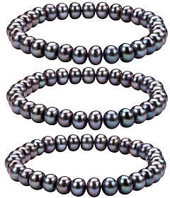 Honora Cultured Pearl Set of 3 7.0mm - 8.0mm St