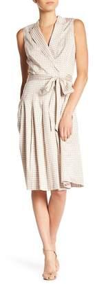 Anne Klein Pleated Dot Print Dress