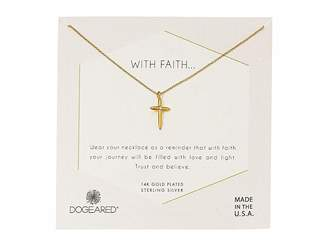 Dogeared With Faith...Cross Pendant with Crystal Inset Necklace