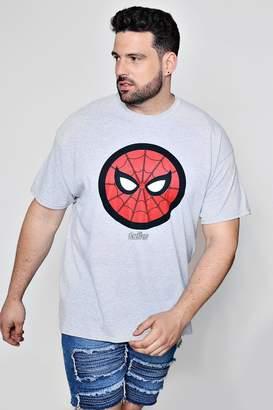 boohoo Big And Tall Marvel Spiderman Icon T-Shirt
