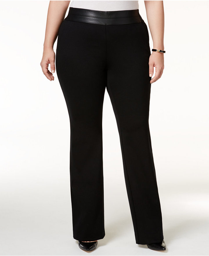Alfani Alfani Plus Size Tummy-Control Trousers, Only at Macy's