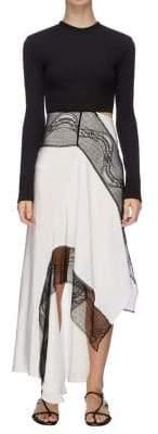 CHRISTOPHER ESBER Eclipse Contrast Long-Sleeve Dress