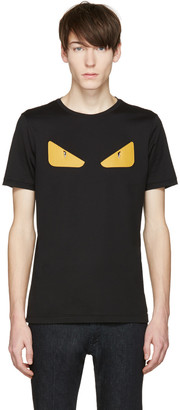 Fendi Black 'Bag Bug' Basic T-Shirt $450 thestylecure.com