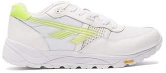 Hi Tec Hts74 Hi-tec Hts74 - Bw Infinity Leather And Mesh Trainers - Mens - White Multi