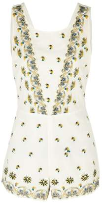 Free People Magarita Embroidered Playsuit