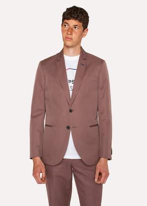 Paul Smith Men's Mid-Fit Mauve Buggy-Lined Cotton-Linen Blazer