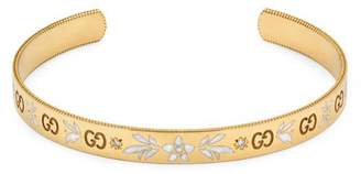 Gucci Icon bracelet in yellow gold and diamonds