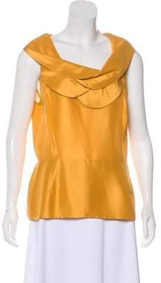 Oscar de la Renta Sleeveless Silk Top