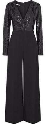 Stella McCartney Sequined And Silk-crepe Jumpsuit